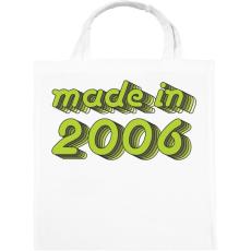 PRINTFASHION made-in-2006-green-grey - Vászontáska - Fehér