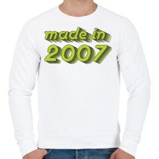 PRINTFASHION made-in-2007-green-grey - Férfi pulóver - Fehér
