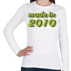 PRINTFASHION made-in-2010-green-grey - Női hosszú ujjú póló - Fehér