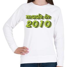 PRINTFASHION made-in-2010-green-grey - Női pulóver - Fehér