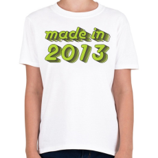 PRINTFASHION made-in-2013-green-grey - Gyerek póló - Fehér