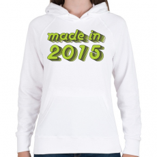 PRINTFASHION made-in-2015-green-grey - Női kapucnis pulóver - Fehér