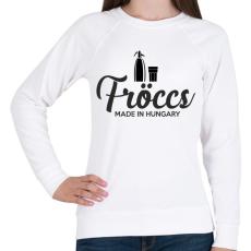 PRINTFASHION Made in fröccs - Női pulóver - Fehér