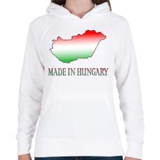 PRINTFASHION Made In Hungary - Női kapucnis pulóver - Fehér