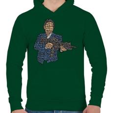 PRINTFASHION Maffiózó - Férfi kapucnis pulóver - Sötétzöld
