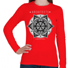 PRINTFASHION Mandala - Női hosszú ujjú póló - Piros