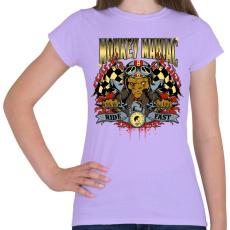 PRINTFASHION Mániákus majom - Női póló - Viola