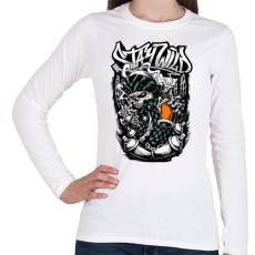 PRINTFASHION Maradj vad - Női hosszú ujjú póló - Fehér