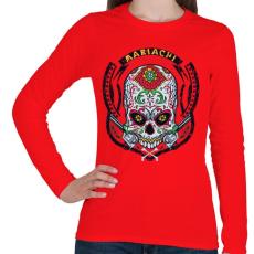 PRINTFASHION Mariachi - Női hosszú ujjú póló - Piros