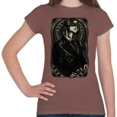 PRINTFASHION Maszkos  - Női póló - Mogyoróbarna