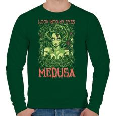 PRINTFASHION Medusa - Férfi pulóver - Sötétzöld