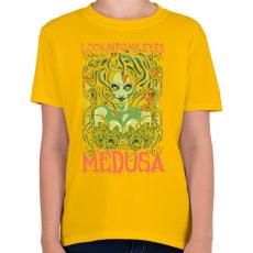 PRINTFASHION Medusa - Gyerek póló - Sárga