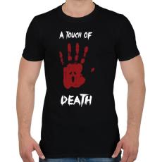 PRINTFASHION Megérint a halál - Férfi póló - Fekete