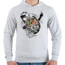 PRINTFASHION Megvilágosodás  - Férfi kapucnis pulóver - Sport szürke