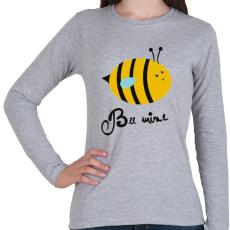 PRINTFASHION Méhecske - Női hosszú ujjú póló - Sport szürke