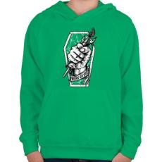 PRINTFASHION Meló halálig - Gyerek kapucnis pulóver - Zöld