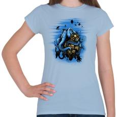 PRINTFASHION Mélytengeri szörny - Női póló - Világoskék