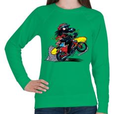 PRINTFASHION Menő farkas - Női pulóver - Zöld