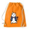 PRINTFASHION Menő macska - Sportzsák, Tornazsák - Narancssárga