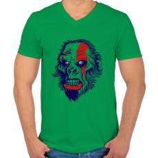 PRINTFASHION Mérges gorilla - Férfi V-nyakú póló - Zöld