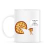 PRINTFASHION Mérges pizza - Bögre - Fehér