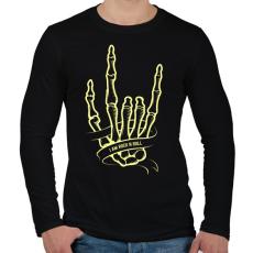 PRINTFASHION Metál kéz - Férfi hosszú ujjú póló - Fekete