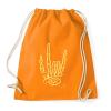 PRINTFASHION Metál kéz - Sportzsák, Tornazsák - Narancssárga