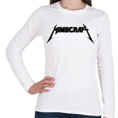 PRINTFASHION METÁL minecraft - Női hosszú ujjú póló - Fehér
