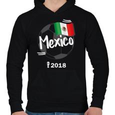 PRINTFASHION Mexikó - Férfi kapucnis pulóver - Fekete
