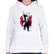 PRINTFASHION Michonne The Walking Dead - Női kapucnis pulóver - Fehér