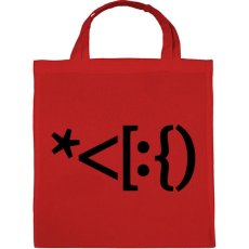 PRINTFASHION Mikulás emoji - Vászontáska - Piros