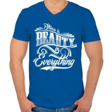 PRINTFASHION Mindenben van valami szép.  - Férfi V-nyakú póló - Királykék