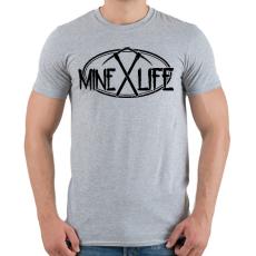 PRINTFASHION Minecraft - bányász élet - Férfi póló - Sport szürke