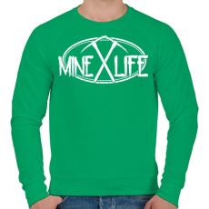 PRINTFASHION Minecraft - bányász élet - Férfi pulóver - Zöld