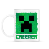 PRINTFASHION Minecraft Creeper - Bögre - Fehér