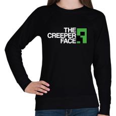 PRINTFASHION Minecraft - Creeper Face - Női pulóver - Fekete