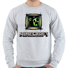 PRINTFASHION Minecraft - Férfi pulóver - Sport szürke