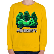 PRINTFASHION Minecraft - Gyerek pulóver - Sárga
