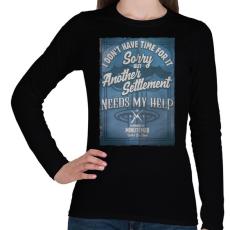 PRINTFASHION Minutemen - Női hosszú ujjú póló - Fekete
