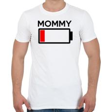 PRINTFASHION MOMMY - Férfi póló - Fehér