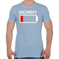 PRINTFASHION MOMMY - Férfi póló - Világoskék