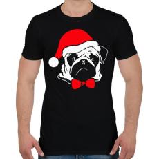 PRINTFASHION Mopsz karácsony - Férfi póló - Fekete