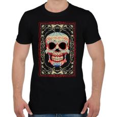 PRINTFASHION Mosolygó koponya - Férfi póló - Fekete
