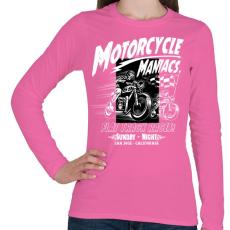 PRINTFASHION Motor mánia - Női hosszú ujjú póló - Rózsaszín