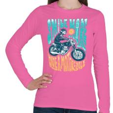 PRINTFASHION Motoros mosoly - Női hosszú ujjú póló - Rózsaszín