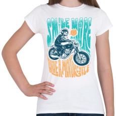 PRINTFASHION Motoros mosoly - Női póló - Fehér