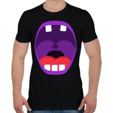 PRINTFASHION Mouth - Férfi póló - Fekete