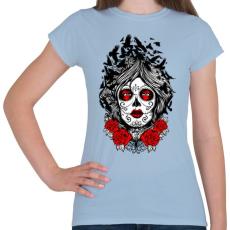 PRINTFASHION Muerte holló hölgy - Női póló - Világoskék
