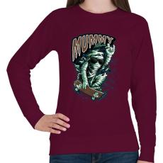 PRINTFASHION Múmia visszatér - Női pulóver - Bordó