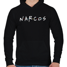 PRINTFASHION Narcos - Férfi kapucnis pulóver - Fekete